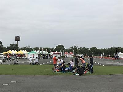 ベジタブルマラソンin彩湖会場テント
