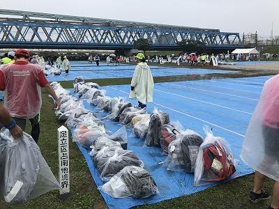 第46回タートルマラソン国際大会荷物置き場