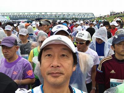 第46回タートルマラソン国際大会スタート5分前自撮り