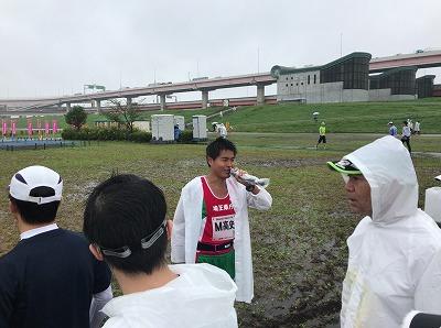 葛飾ふ~てんマラソンのハーフマラソンスタート前
