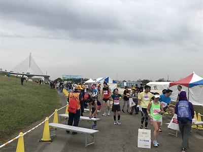 東京トライアルハーフマラソン2017ゴール後