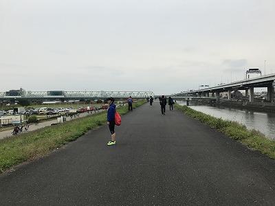 東京トライアルハーフマラソン2017帰路