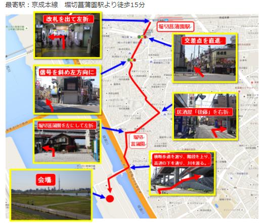 葛飾ふ~てんマラソン2017会場アクセス