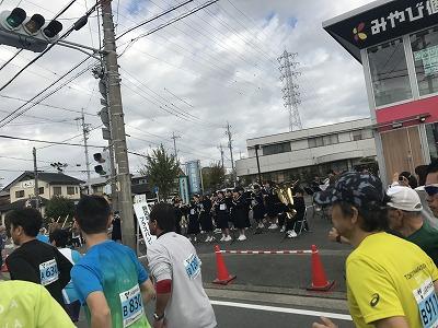 ジュビロ磐田メモリアルマラソンブラスバンド演奏