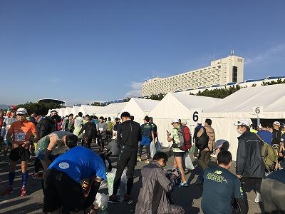 第12回湘南国際マラソン荷物置き場