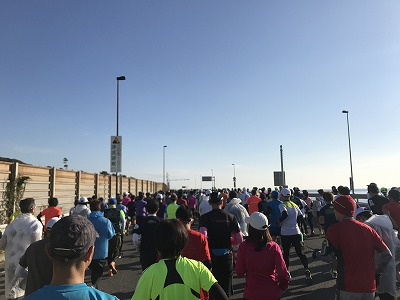 第12回湘南国際マラソンスタート整列