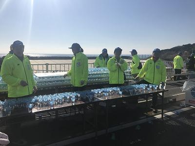 第12回湘南国際マラソン32キロ給水所
