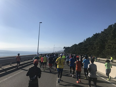 第12回湘南国際マラソン38キロ地点