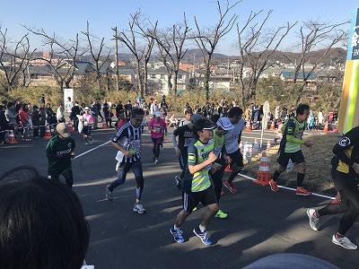 第12回湘南国際マラソンゴール直前