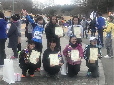 第12回かさま陶芸の里ハーフマラソン大会表彰式吉田香織さん