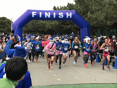 第1回谷川真理クリスマスマラソンフルマラソンスタート