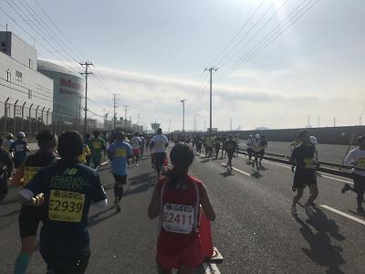 第42回サンスポ千葉マリンマラソン10キロ地点