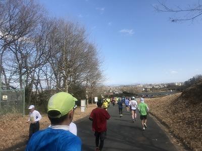 第43回森林公園完走マラソンハーフスタート4キロ地点