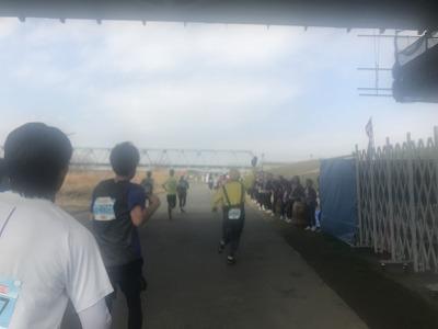 第4回かつしかふれあいRUNフェスタ2018、ハーフマラソンレース中