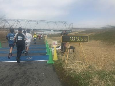 第4回かつしかふれあいRUNフェスタ2018、ハーフマラソンレース15キロ地点