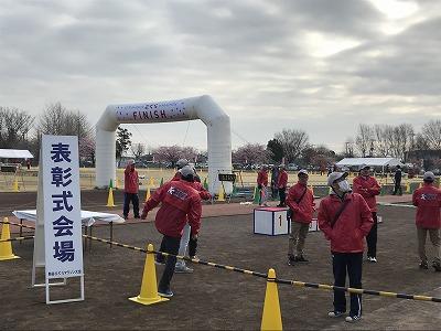 第28回熊谷さくらマラソン大会会場の陸上競技場