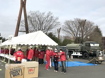 第28回熊谷さくらマラソン大会自衛隊待機