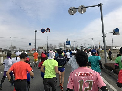第28回熊谷さくらマラソン大会スタート直後