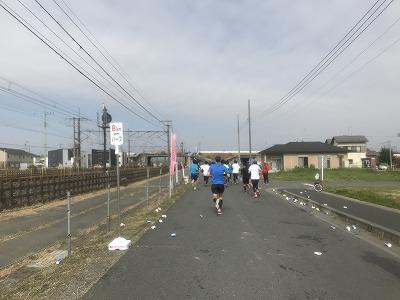 第28回熊谷さくらマラソン大会レース中写真8キロ地点