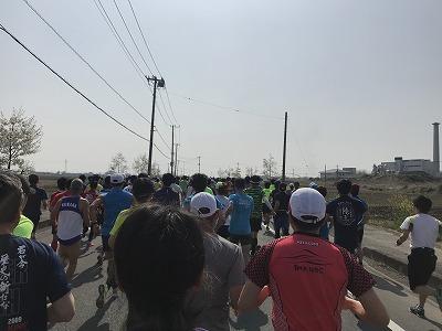 陸王杯第34回行田市鉄剣マラソン・ハーフマラソンスタート直後