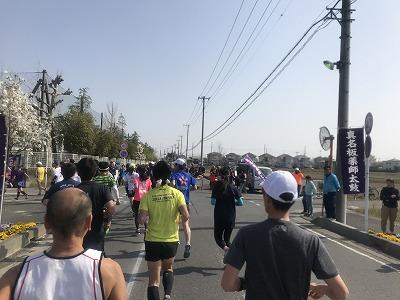 陸王杯第34回行田市鉄剣マラソン・ハーフマラソンスタート10分後