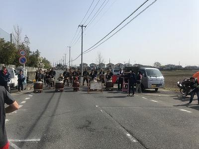 陸王杯第34回行田市鉄剣マラソン・ハーフマラソン太鼓の応援