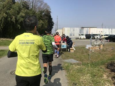 陸王杯第34回行田市鉄剣マラソン・ハーフマラソン給水所