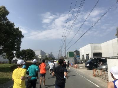 陸王杯第34回行田市鉄剣マラソン・ハーフマラソン35分後