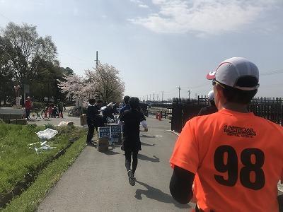 陸王杯第34回行田市鉄剣マラソン・ハーフマラソン50分後給水所
