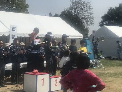 陸王杯第34回行田市鉄剣マラソン・ハーフマラソンゴール後表彰式