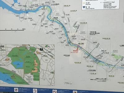 第4回UPRUN川崎等々力河川敷スプリングマラソン周辺地図