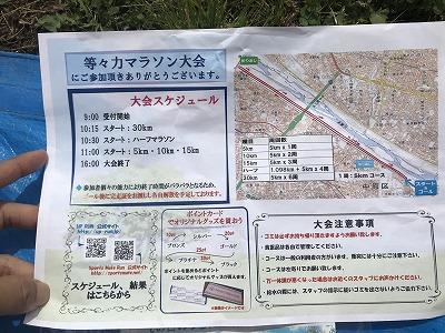 第4回UPRUN川崎等々力河川敷スプリングマラソンパンフ