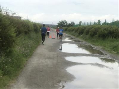 第4回UPRUN川崎等々力河川敷スプリングマラソン折り返し地点