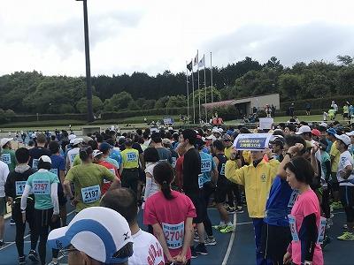 第42回富士裾野高原マラソン、スタート整列