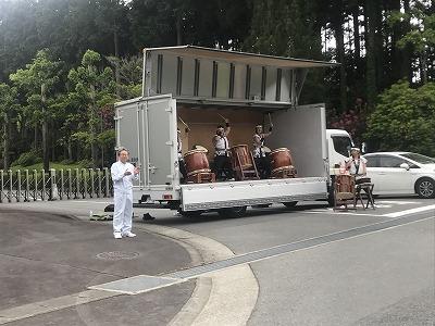 第42回富士裾野高原マラソン、太鼓応援