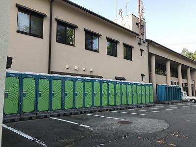第38回スポニチ山中湖ロードレース仮設トイレ