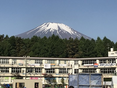 第38回スポニチ山中湖ロードレース会場から見える富士山