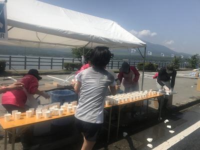 第38回スポニチ山中湖ロードレース給水所