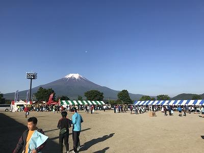 第9回忍野高原トレイルレース会場、富士山の絶景