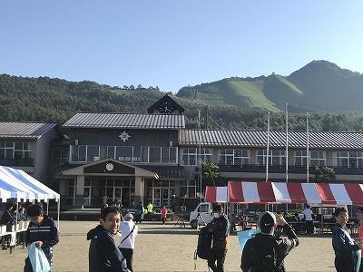 第9回忍野高原トレイルレース会場、忍野中学校