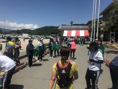 第9回忍野高原トレイルレース、ゴール記録証配布