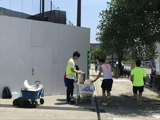 第4回UPRUN品川マラソン大会給水所