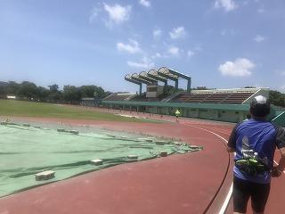 第4回UPRUN品川マラソン大会ハーフマラソンレース中