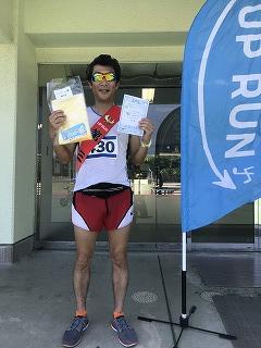 第4回UPRUN品川マラソン大会ハーフマラソンレース後