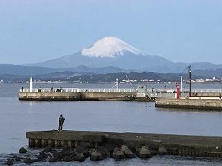 第9回湘南藤沢市民マラソン弁天橋富士山