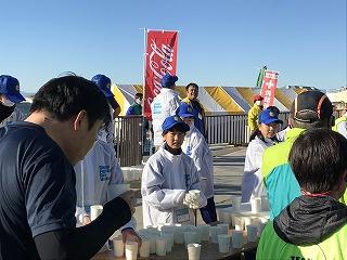 第9回湘南藤沢市民マラソン10マイル給水所