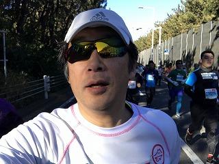 第9回湘南藤沢市民マラソン10マイル自撮り