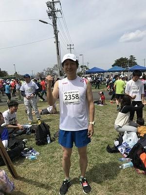 第21回 東日本国際親善マラソンスタート30分前の僕