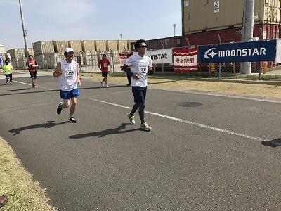 第21回 東日本国際親善マラソンのハーフマラソンレース中2周目