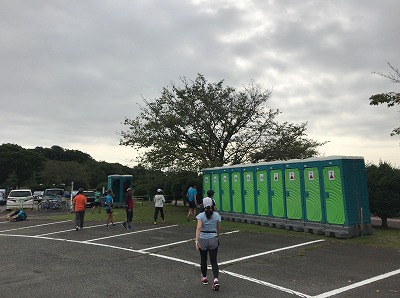 ベジタブルマラソンin彩湖トイレ